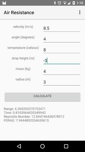 Air Resistance Calculator