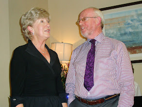 Photo: Noel Kavanagh trying to catch the eye of wife Eileen as they entertain with a duet.  Who could blame him.