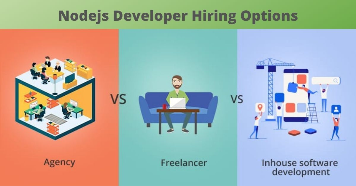 Nodejs developer hiring options
