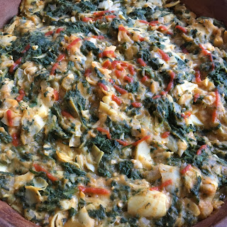 No Guilt 'Cheesy' Spinach Artichoke Dip..Fat Free and Fabulous.