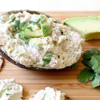 No-Mayo Salmon Salad with Avocado.