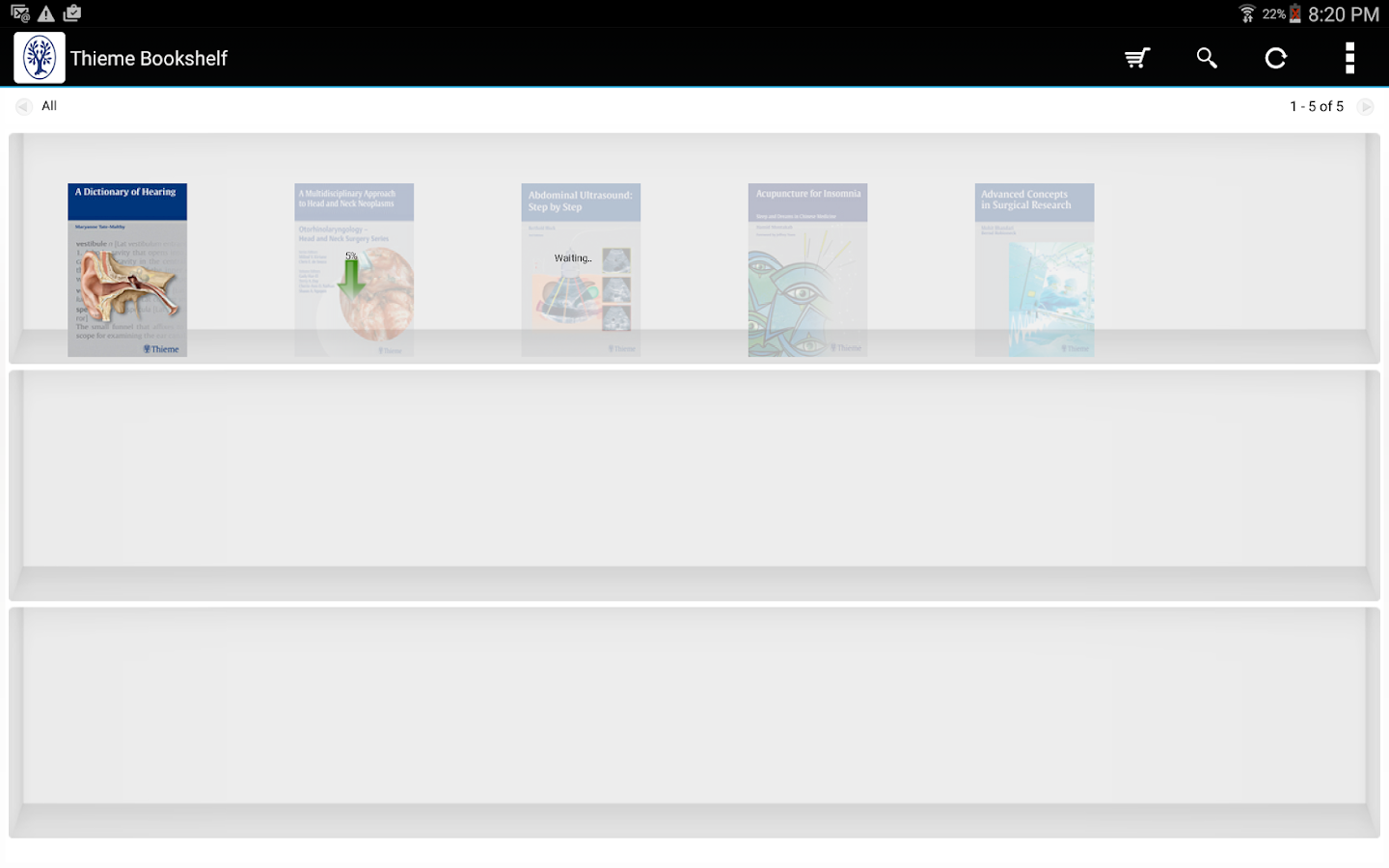 Thieme Bookshelf- screenshot