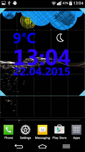 Weather Clock Widget  screenshots 2