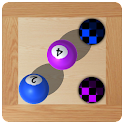 Labyrinth roll balls and holes icon