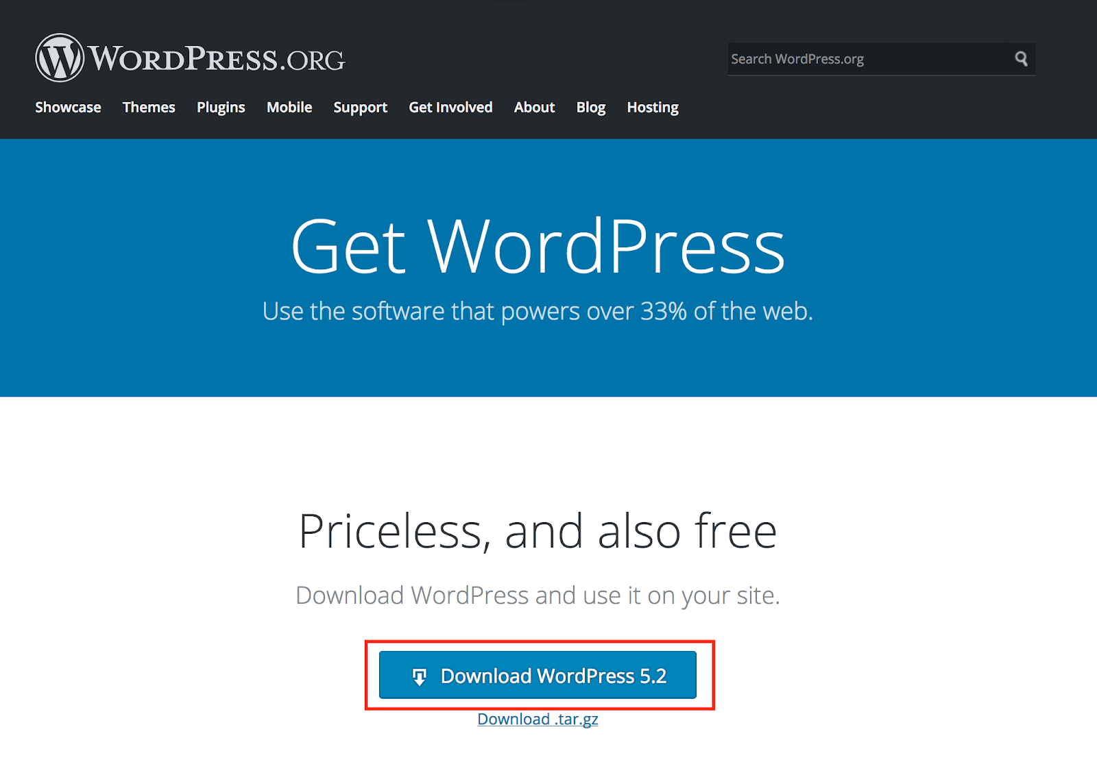 reinstall core WordPress