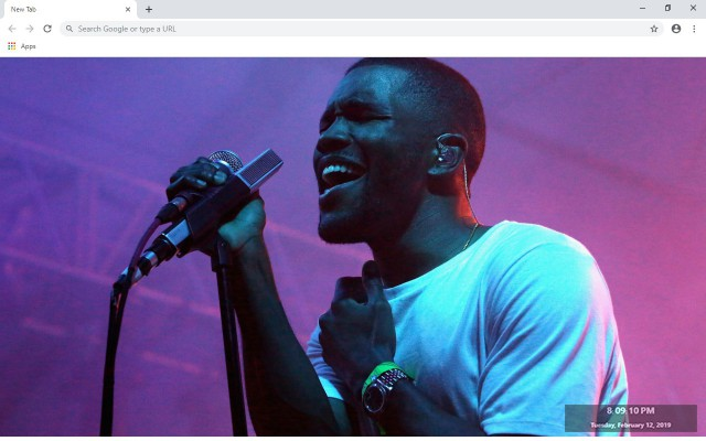 Frank Ocean New Tab & Wallpapers Collection