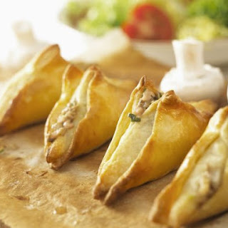 Mushroom and Goat's Cheese Filo Triangles