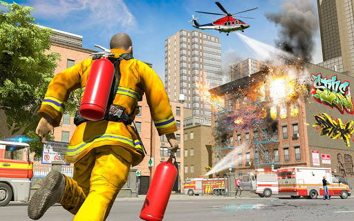 City Fire Fighter Airplane 911 Rescue Heroes  screenshots 5