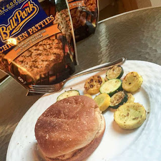 Hickory Smoked Bacon & White Cheddar Chicken Sandwich With Sautéed Squash and Zucchini