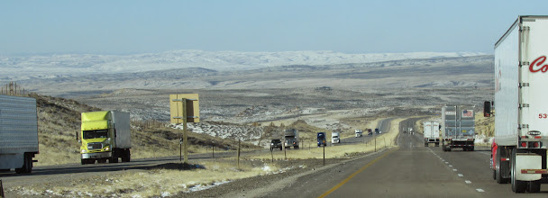 Photo: View from the road, Wyoming.