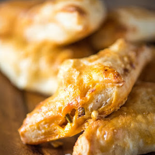 Buffalo Chicken Puff Pastry Pockets.