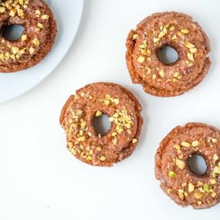 Pistachio Mini Doughnuts with Vanilla Glaze