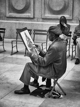 Photo: This is one of my favorite shots from the Metropolitan Museum of Art in New York City. This guy was just so smooth, he barely moved, almost like he was also a piece of art.  http://jameshowephotography.com/blog/2011/03/the-artist.html/