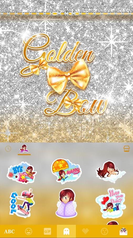 Golden-Bow-Kika-Keyboard-Theme 12