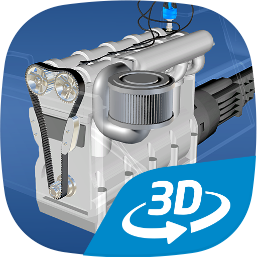 Four-stroke Otto engine VR 3D