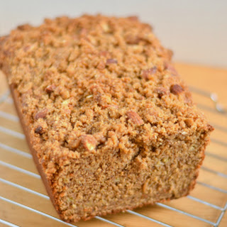 Roasted Banana Almond Butter Streusel Bread