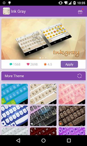 Emoji Keyboard-Ink Gray