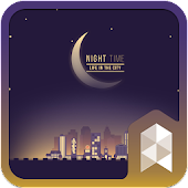 Starry City GIF icon theme