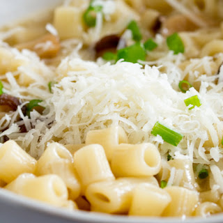 Pasta with Mushroom Broth, Butter and Parmesan.