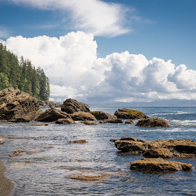 Sombrio Beach in summer by GThomas Muir - Landscapes Beaches ( clouds, sky, vancouver island, sombrio beach, ocean, british columbia )