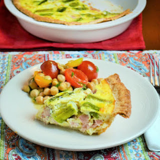Ham and Asparagus Quiche for Mother's Day