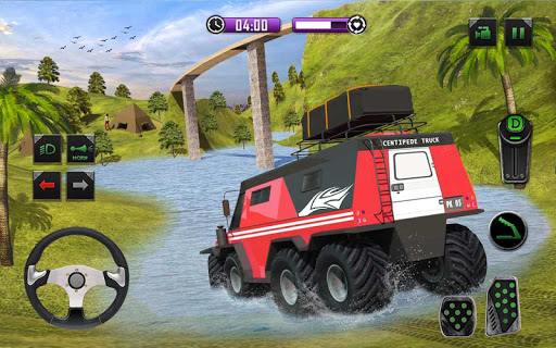 8x8 Offroad Mud Truck Spin Tires: Trucker Games 18 apktram screenshots 9