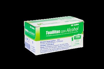 Toallitas con Alcohol   Inverfarma Caja x 100 Sobres