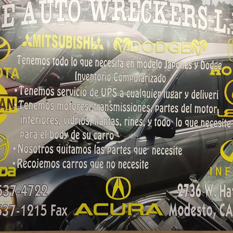 Modesto Auto Wreckers >> Ace Auto Wreckers Inc Used Auto Parts Store In Modesto