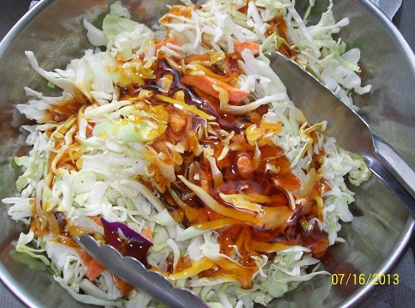 Pour the thickened apple sauce over the slaw and toss to coat. Not all...