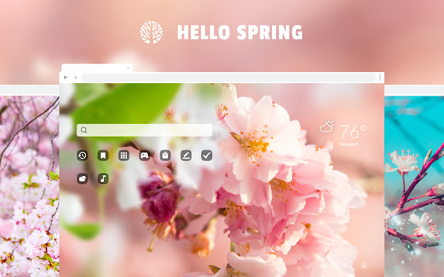 Hello Spring HD Wallpaper Theme