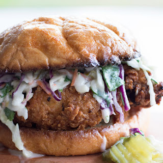 Buttermilk Fried Chicken Sandwich with Cilantro Jalapeño Coleslaw