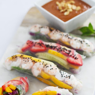 Fruity Summer Rolls with a Peanut Dipping Sauce