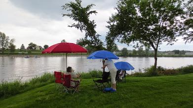 Photo: Bon, la pluie se met de la partie !