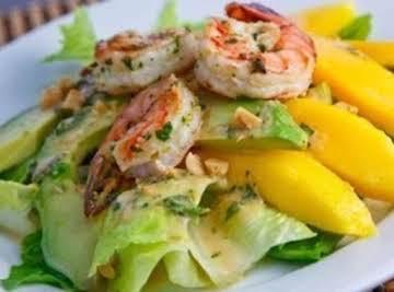 Mango - Avocado And Grilled Shrimp Salad