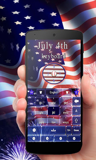 July 4th GO Keyboard Theme