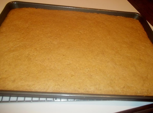 Spread into sheet pan evenly.   Bake approx. 20 minutes or until tooth pick inserted...
