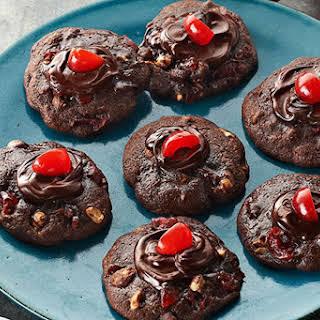 Cherry-Chocolate Volcano Cookies.