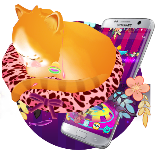 Dreamy Cute Cat 3D Theme