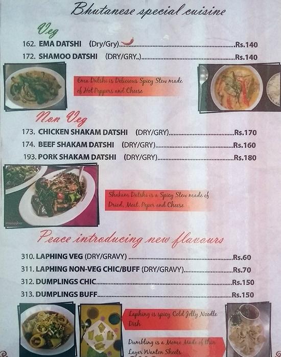 Peace Restaurant menu 6