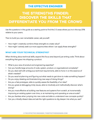 Download the Strengths Finder with 30+ targeted questions to identify your core strengths.