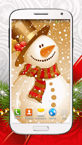 Cute Snowman Live Wallpaper HD screenshot 2