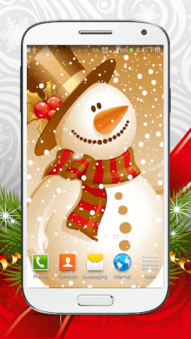 android Cute Snowman Live Wallpaper HD Screenshot 2