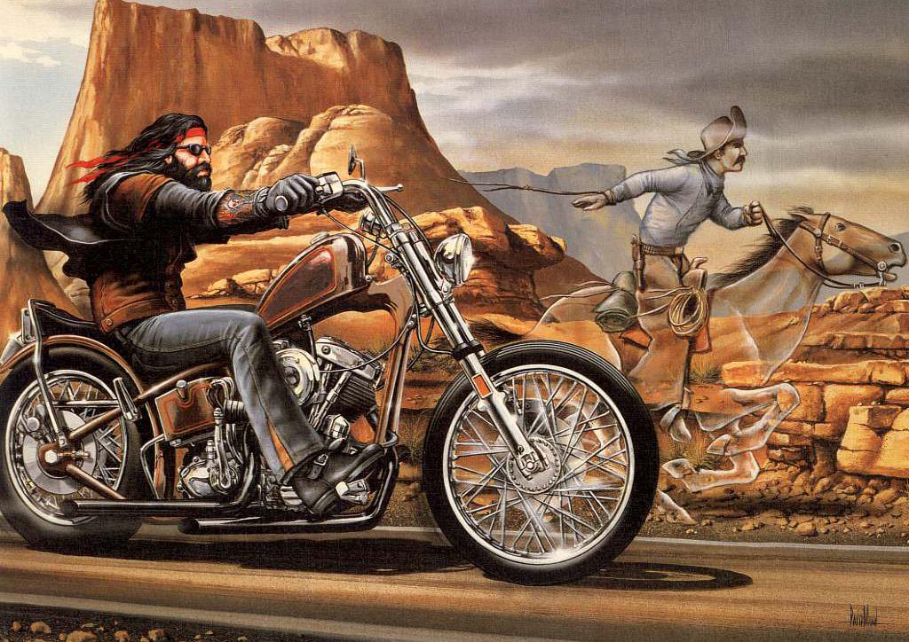 Canvas David Mann Ghost Rider 4 Art Print Poster
