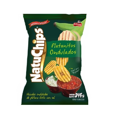 snack natuchips platanitos ondulados 245gr