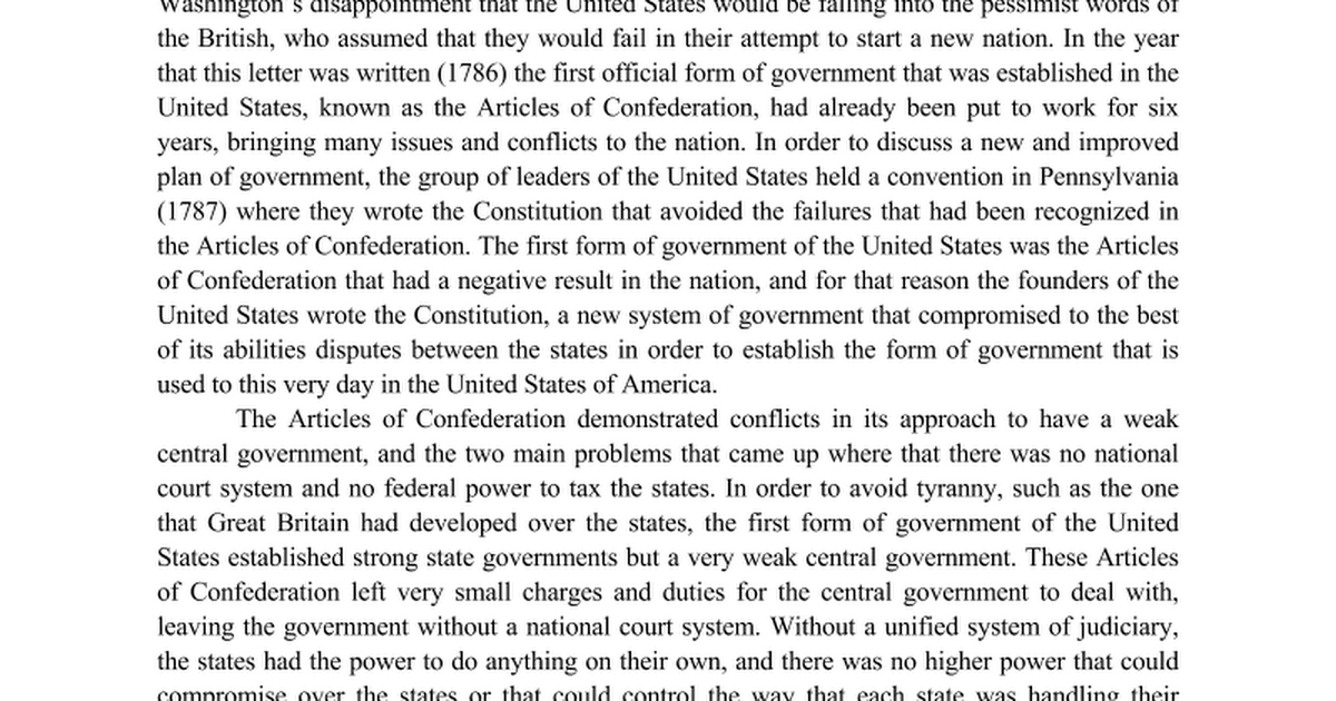 the articles of confederation and the u s constitution dbq the articles of confederation and the u s constitution dbq google docs