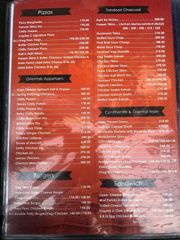 Capital C menu 4