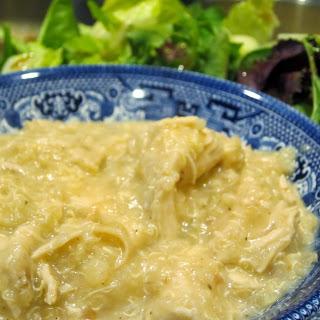 Quinoa Risotto with  Garlic Chicken