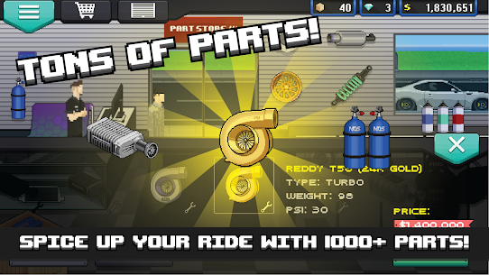 Pixel Car Racer MOD (Unlimited Diamonds/Money) 2