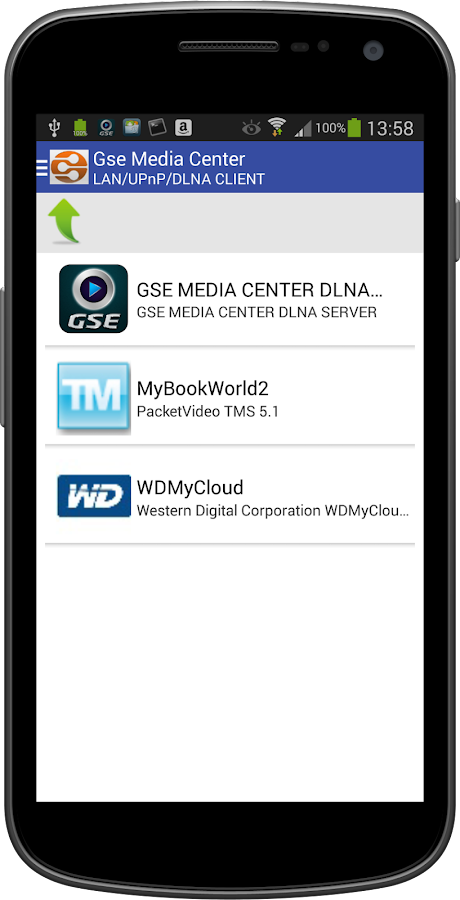 GSE MEDIA CENTER (DLNA/CLOUD)- screenshot