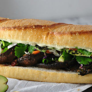 Asian Portobello Sandwich With Wasabi Mayo [Vegan].